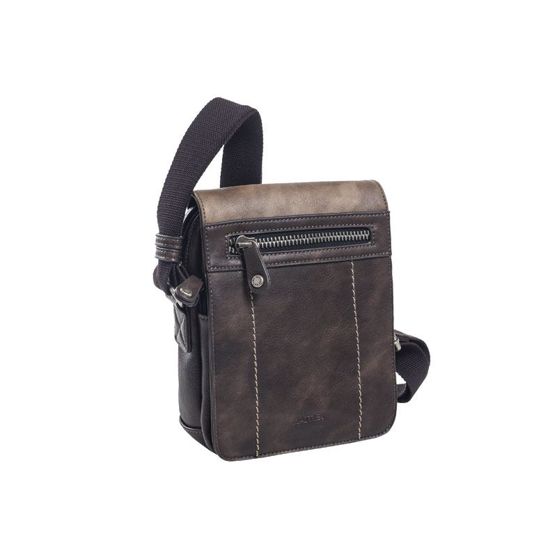 Bolso mediano solapa doble tono Matties