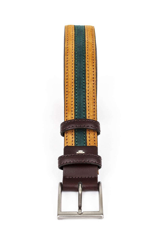 Cinturón bicolor enganche marrón 547
