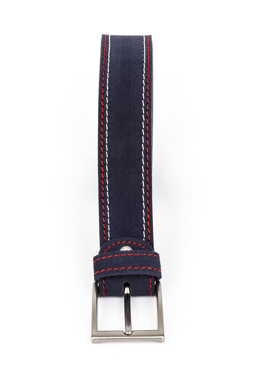 Cinturón serraje cosido bicolor