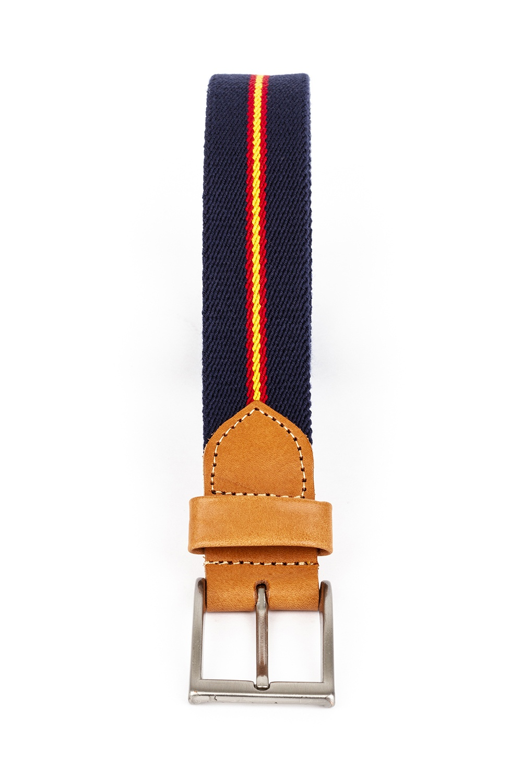 Cinturón elástico con piel