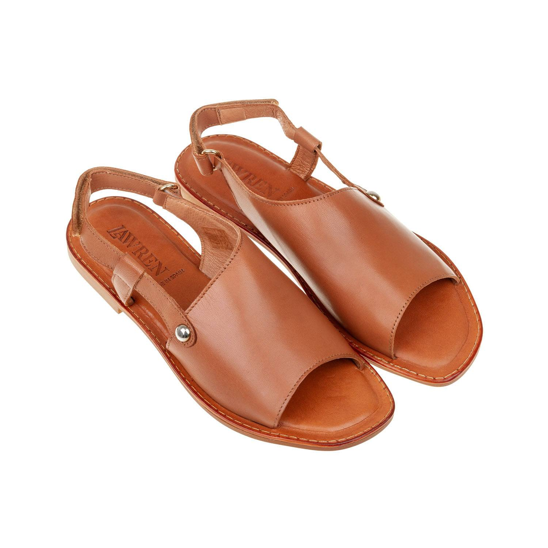 Sandalia plana piel corte asimétrico Lawren