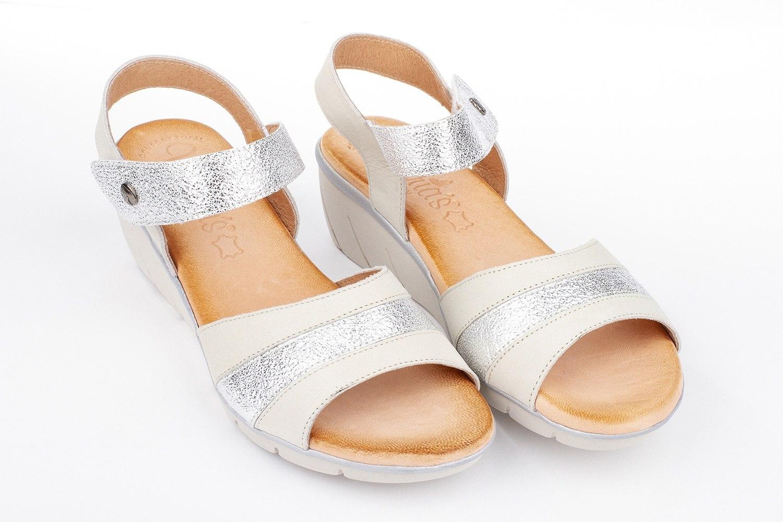 Sandalia piel combinada confort Valeria´s