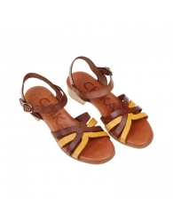 Sandalia piel tacón ancho pulsera Chk10
