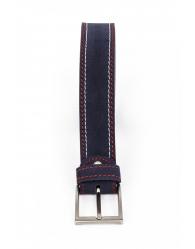 Cinturón serraje cosido bicolor 834