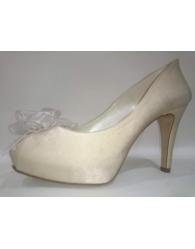 Peep toes florecita novia Melanie