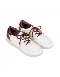 Zapato piel semi-cuña combinado Khloe 3610