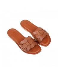 Sandalia plana piel círculos Lawren