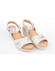 Sandalia piel combinada confort Valeria´s 6012