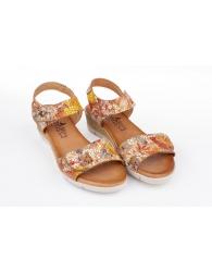 Sandalia piel multicolor confort Valeria´s